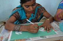 Successful stencil workshop by RangSutra in Varanasi