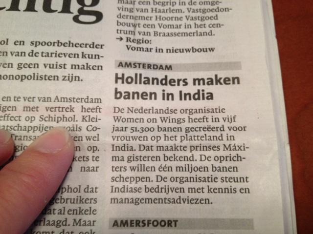 Leidsch Dagblad: Hollanders maken banen in India
