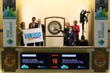 Women on Wings sounds the stock exchange bell