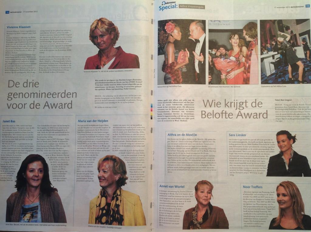 BN De Stem: Drie genomineerden voor de zakenvrouw award