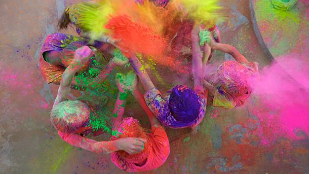 Holi colours the world