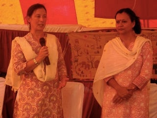 Ellen speaks at annual shareholders meeting on 12 September 2013, Bikaner.
