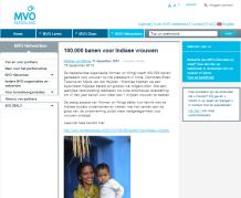 MVO Nederland website: 100.000 banen voor Indiase vrouwen