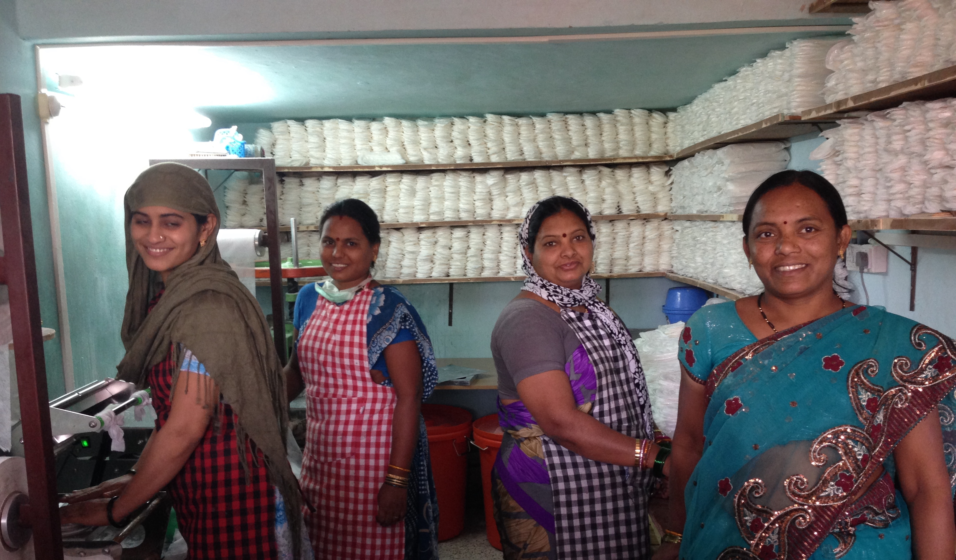 Successful start of business unit sanitary pads in Tuljapur