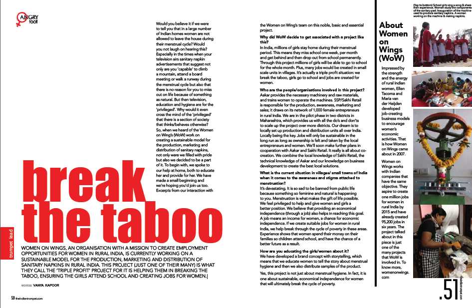 The Indian Trumpet: Break the taboo