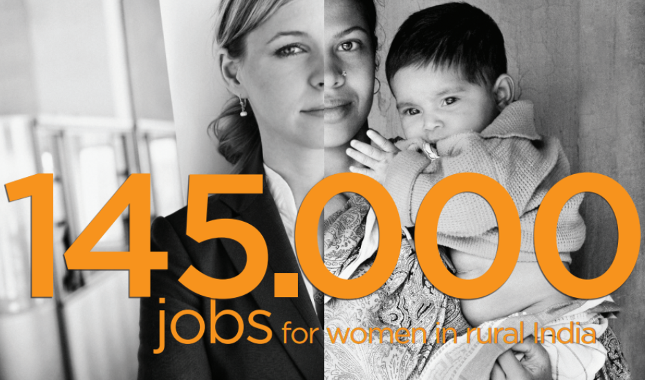 """""""145.000 jobs for Indian rural women"""" revealed at 7th anniversary"""