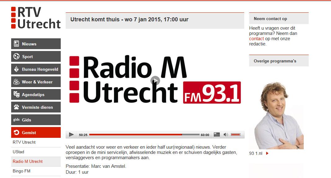 Women on Wings in radio interview Radio M Utrecht