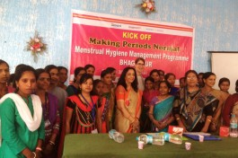 Kick-off second phase 'Making periods normal' in Bhagalpur, Bihar