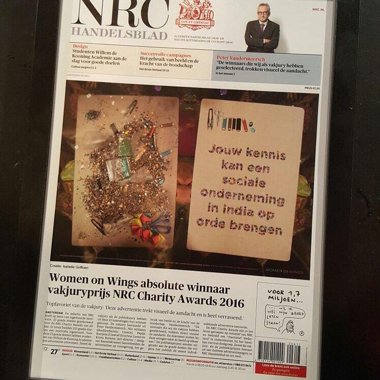 Women on Wings wins NRC Charity Awards 2016