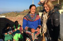 Knitting provides additional income for women in the Himalayas
