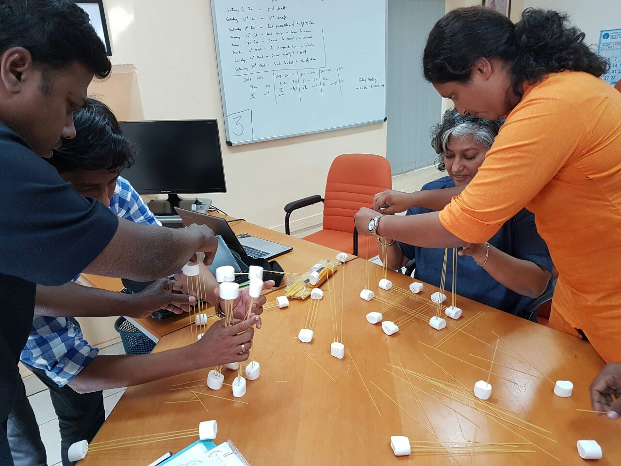 Inspiring team building workshop at Mandala Apparels