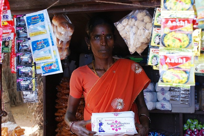 Sales of sanitary pads significantly increased