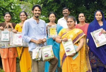Paper bags provide income to rural women