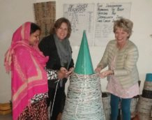 Upcycling newspapers brings joy and income