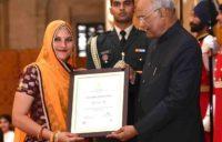 Ruma Devi receives Nari Shakti Puraskar