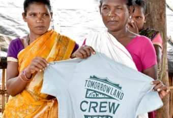 Indian organic cotton T-shirts for Tomorrowland