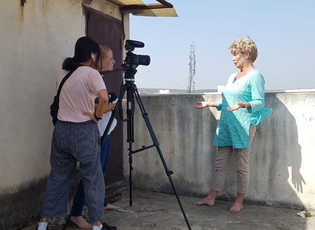 RTL News films at Women on Wings partner