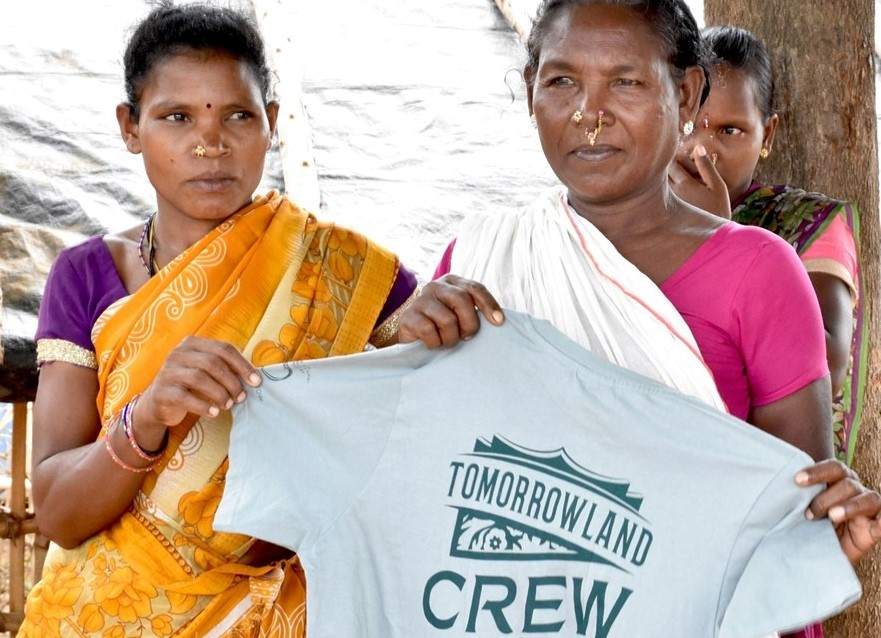 Organic T-shirts from Women on Wings' partner GVK for Tomorrowland