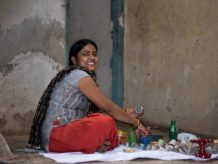 Kumkum saves income from mask making for education