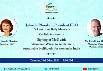 Partnership with FICCI FLO features in Indian press