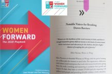 Women on Wings' co-founder Ellen Tacoma in BPeace Women Forward 2020 playbook