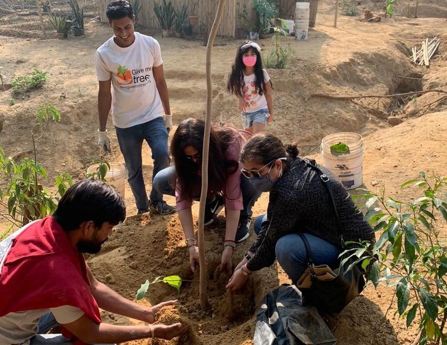 Women on Wings plants saplings in Delhi