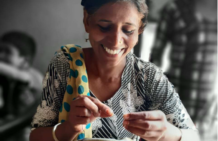 New partner turns chicken feathers into yarn