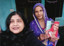 Artisan Sapna on cover of book about change makers